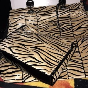 Vintage 2 tiger striped bags set Mary Kay New